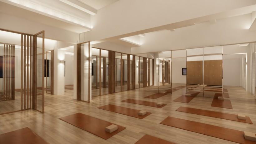瑜伽馆装修、瑜伽馆设计、瑜伽馆效果图